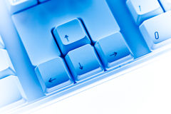 Cursor keys Computer keyboard close-up Royalty Free Stock Images