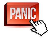 Cursor panic button. Illustration design with cursor hand Stock Image