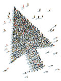 Cursor with people. Illustration of cursor with people Stock Images