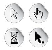 Cursor. Pixel cursor labels -  web design element Stock Images