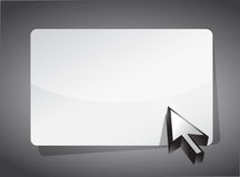 Cursor pointing to a blank board Stock Photography
