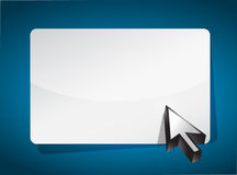 Cursor pointing to a blank board Royalty Free Stock Photo