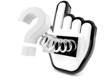 Cursor with question mark Stock Photo