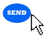 Cursor and send button Stock Images