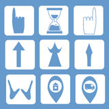 Cursor Set. Color blue Stock Photos