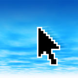 Cursor on sky Royalty Free Stock Photo