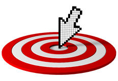 Cursor on target. 3D Royalty Free Stock Photos