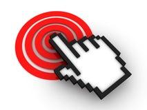Cursor on target. Internet Concept. 3D Render Royalty Free Stock Images