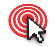 Cursor on Target. Internet Concept. 3D Render Stock Photos