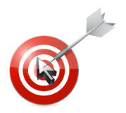 Cursor target illustration design Royalty Free Stock Photos