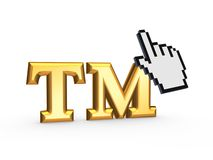 Cursor and TM symbol. Stock Photography