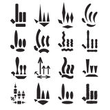 Cursor. Vector set of cursors, pointers, clicks for illustrations Stock Photography