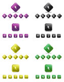 Cursor And Web Set Royalty Free Stock Images