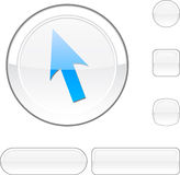 Cursor white button. Royalty Free Stock Photo