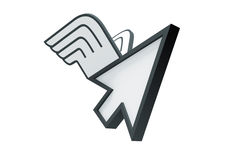 Cursor winged Stock Photo