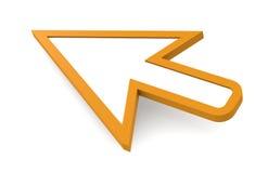 Cursore del mouse, arancione. illustrazione di stock