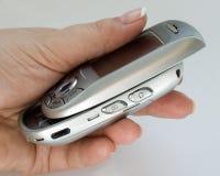 Cursore dell'argento del telefono delle cellule Fotografie Stock