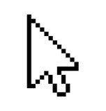 Cursore della freccia Immagine Stock