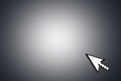 Cursore della freccia del topo sull'angolo Fotografia Stock