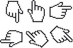 Cursore della mano Immagine Stock