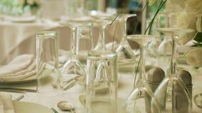 Cursore di disposizione dei fiori della Tabella di nozze video d archivio