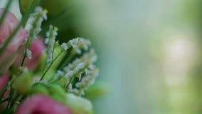 Cursore di disposizione dei fiori di nozze video d archivio