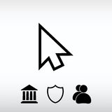 cursores ícone, ilustração do vetor Estilo liso do projeto Foto de Stock