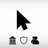 cursores ícone, ilustração do vetor Estilo liso do projeto Imagem de Stock