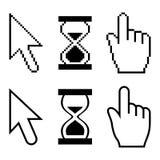 Cursores del pixel del vector Imágenes de archivo libres de regalías