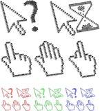 Cursores do pixel Imagem de Stock