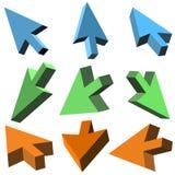 Cursores do vetor 3D Imagem de Stock