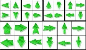 Cursores verdes da coleção Foto de Stock