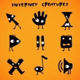 Cursori/creature del Internet Fotografia Stock