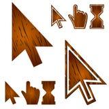 Cursori di legno messi Illustrazione di vettore Royalty Illustrazione gratis