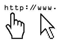 Cursors. Vector illustration of hand cursors Stock Images