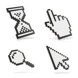 Cursors set. 3D render illustration. On white background Stock Photo