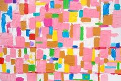 Cursos acrílicos coloridos da escova da cor Imagens de Stock