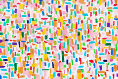 Cursos acrílicos coloridos da escova da cor Fotos de Stock Royalty Free