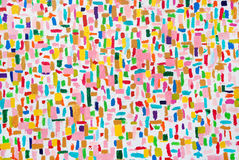 Cursos acrílicos coloridos da escova da cor Fotografia de Stock
