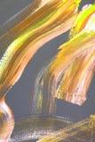 cursos amarelos da precipitação do fogo na lona Fundo da arte abstrata Textura da cor Fragmento da arte finala Pintura abstrata n ilustração do vetor