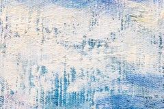 Cursos brancos expressivos da escova no fundo azul foto de stock