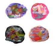 Cursos coloridos artísticos da escova da aquarela Imagem de Stock