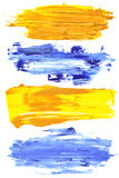 Cursos coloridos da escova Fotografia de Stock
