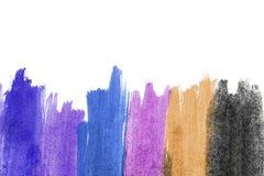 Cursos coloridos da escova Foto de Stock