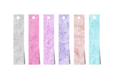 Cursos coloridos da escova da aguarela Imagens de Stock Royalty Free