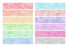 Cursos coloridos da escova da aguarela Foto de Stock