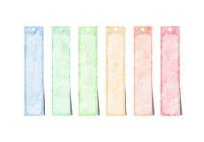 Cursos coloridos da escova da aguarela Imagens de Stock