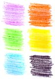 Cursos coloridos da escova da cera Foto de Stock