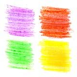Cursos coloridos da escova da cera Imagens de Stock