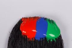 Cursos coloridos da escova da pintura acrílica Foto de Stock Royalty Free
